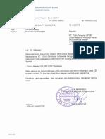 Surat Pernyataan Siap Operasi CB 5B5 SRLYA