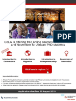 Community of Learning for Africa flyer