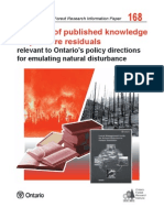 Forest Research Information Paper 168_A review of published knowledge on post-fi re residuals relevant to Ontario's policy directions for emulating natural disturbance