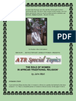 The Role of Women in Afrikan Traditional Mythologies-Religion