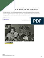 Gonzalez - Para Compreender a 'Améfrica' e o 'Pretuguês'