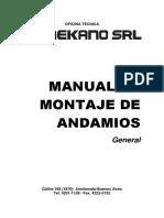 Manual Andamio MEKANO