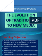The Evolution of Traditional to New Media