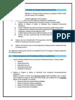 Guideline for TTT Exemption Application