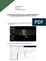 Langkah-langkah Editing Adobe Premiere