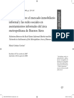 El Mercado Inmobiliario Informal y Las Redes de Asentamientos Informales