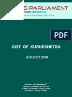 Gist of Kurukshetra August 2018