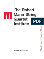 Master Classes with Robert Mann JANUARY 2–5, 2013