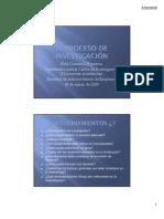 El Proceso de Investigacion