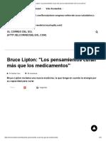 Bruce Lipton_ _Los Pensamientos Curan Más Que Los Medicamentos_ _ El Correo Del Sol