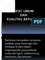 Kuliah 2 Sifat umum dan kualitas  batubara.pptx