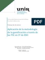 Aplicación de La Metodología de La Gamificación a Través de Las TIC