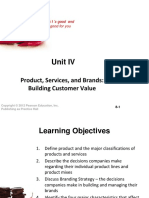 BBC 2 - Unit IV - Product, Services and Branding Strategy