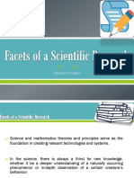 Facets of a Scientific Research