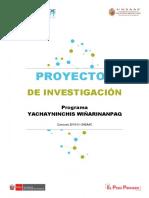 Bases Convocatoria Proyectos de Investigación - Yachayninchis Wiñarinanpaq