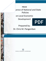 The Influence of National and State Policies on Local Economic Development