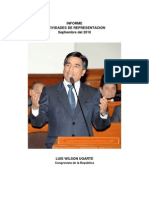 Informe Funcion de Representacion Septiembre