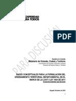 Bases Conceptuales Para La Formulación Del Ordenamiento Territorial Departamental - MVCT