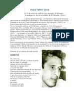 Biografias de Poetas y Escritores Salvadoreños
