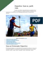Entrenador Deportivo