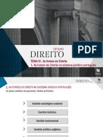 As Fontes Do Direito No Sistema Jurídico Português