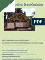 Cómo construir un Domo Geodésico