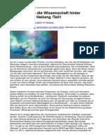 Biophotonik – die Wissenschaft hinter energetischer Heilung - Teil1