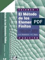 El Método de los Elementos Finitos Vol. 1 - Zienkiewicz & Taylor - 4ta Edición.pdf