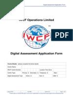 AC-0084 Digital Assessment Application Form