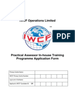 AC-0027 Practical Assessor in-house Training Programme Application Form