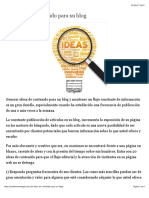 20 Ideas de Contenido Para Su Blog - Master Marketing