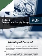 Module 2 Demand Analysis