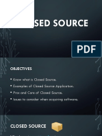 Closed Source Documentation