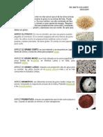 arroz en diversas presentaciones
