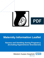 Nausea and Vomiting During Pregnancy