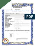 FORMAT IJAZAH PAKET B