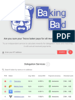 Baking Bad - Tezos Delegation Auditor - Ratings Snapshot 24th July 2019