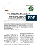 Color and Cod Removal From Poultry Litter