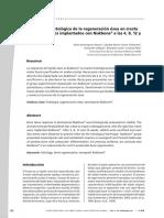 Descripción histológica de la regeneración ósea en cresta iliaca de conejos implantados con Nukbone® a las 4, 8, 12 y 16 semanas