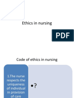 Ethics in Nursing