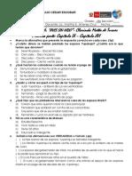 Control de Lectura - Aves Sin Nido- Primera Parte - Capítulo Ix - Capítulo Xvi - 4to Sec