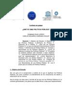 Documento de lectura QUÉ ES UNA POLÍTICA PÚBLICA
