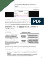 Infotributaria.com-Crédito Fiscal IGV Compras Requisitos Formales y Operaciones Nonbspreales
