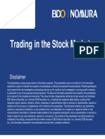 Trading in the Stock Market