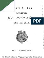 Estado Militar de España (Ed. en 16º). 1828