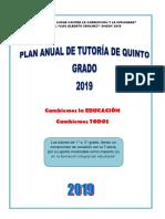 Plan de Tutoría Ongoy Quinto Grado