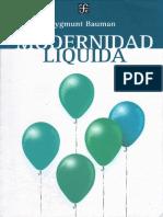 164484982 Bauman Modernidad Liquida