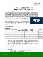 Motor Vehicles for Sale- Private Agricultural Sector Support Trust