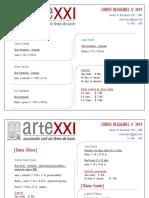 Artexxi - Cursos Regulares Agosto 2019
