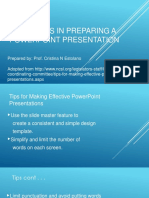 Guidelines in Preparing a PowerPoint Presentation